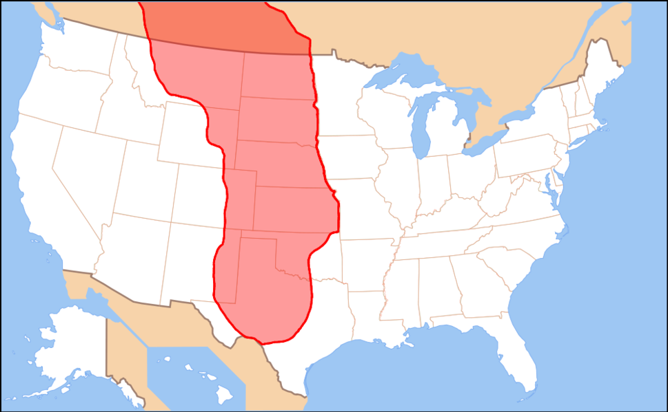 Map of the Great Plains