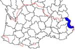 Mapa de los Valles Occitanos o Valadas Occitanas según la ley sobre las minorías lingüísticas en Italia de 1999,(ley italiana 482/99).