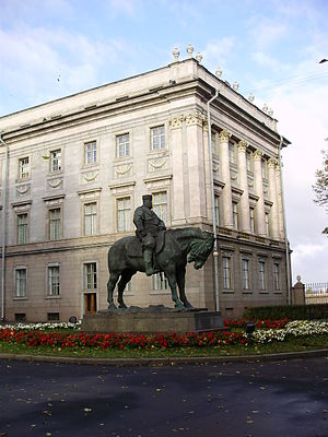 Marble Palace - Equestrian statue of Alexander III from Vosstaniya Square
