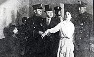 Margaret Sanger's arrest at Brownsville Clinic.jpg
