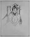 Margot Wearing a Large Bonnet, Seated in an Armchair MET MM17765.jpg