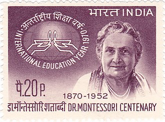 Maria Montessori - Montessori on a 1970 stamp of India