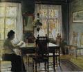 Marian Ruzamski - Matka artysty w pokoju jadalnym.png