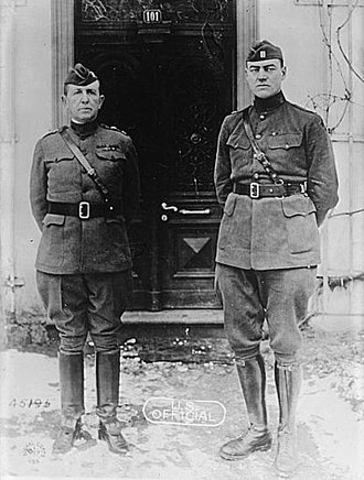 Hamilton Fish III - General Mark L. Hersey (left) and captain Hamilton Fish III (right)