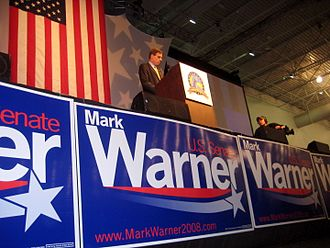 Mark Warner - Warner accepts the nomination as the Democratic candidate for the Senate