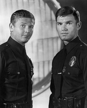 Kent McCord - McCord at right with Martin Milner in 1970.