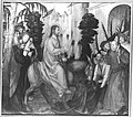 Martin Schaffner - Erster Wettenhauser Altar, Einzug Christ in Jerusalem Rückseite, Dornenkrönung Christi - 1372 - Bavarian State Painting Collections.jpg