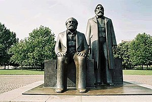 History of socialism - Statue of Marx and Engels in Alexanderplatz, Berlin.