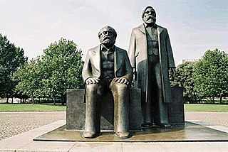 Karl Marx and Friedrich Engels monument in Marx-Engels-Forum, Berlin-Mitte