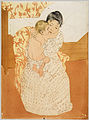 Mary Cassatt, Maternal Caress, 1891, dry point etching.jpg