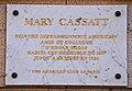 Mary Cassatt plaque - 10, rue de Marignan, Paris 8.jpg