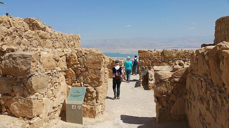 Masada - das Kommandantenhaus / die Residenz- vergrößerbar auf 5312x2988