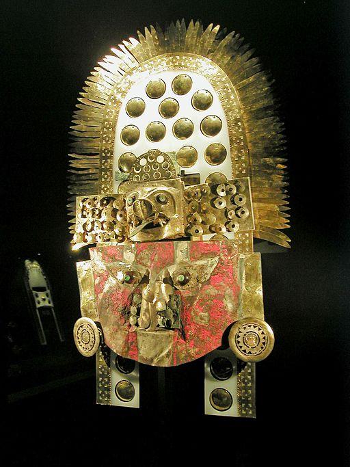 Máscara de la tumba del Señor de Sipán