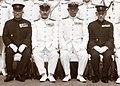 Matsudaira,Shimada,Koga,Hyakutake on the deck battleship Musashi.jpg