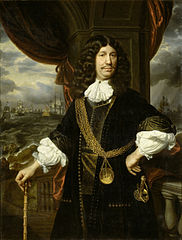 Portrait of Mattheus van den Broucke (1620-85), Governor of the Indies, with the gold chain and medal presented to him by the Dutch East India Company in 1670