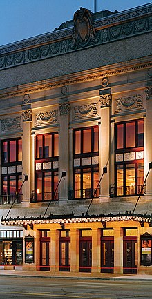 Facade Of Orchestra Hall At The Max M Fisher Music Center Detroit Mi