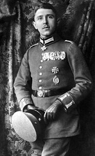 Max Immelmann German World War I flying ace