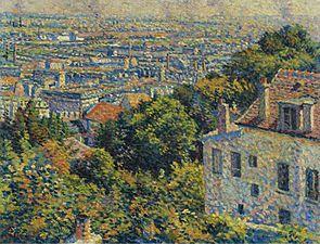 Montmartre, de la calle Cortot, vista hacia Saint-Denis , c. 1900