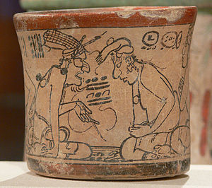 Maya Codex-Style Vessel with two scenes 3 Kimbell