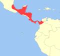 Mazama temama distribution.png