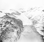 McCarty Glacier, terminus of tidewater glacier in the midground, junction of glaciers in the background, undated (GLACIERS 6609).jpg