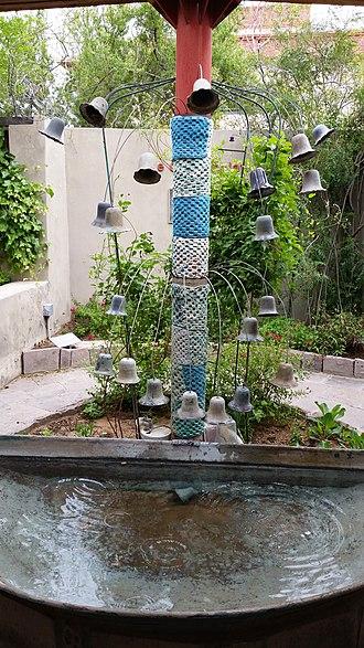 Centennial Museum and Chihuahuan Desert Gardens - Image: Meditating pool at Chihuahuan Desert Garden