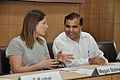 Megan Steinwedel Talks with Anil Shrikrishna Manekar - Opening Session - Hacking Space - Science City - Kolkata 2016-03-29 2624.JPG