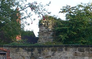 Melbourne Castle - Image: Melbourne castle wall