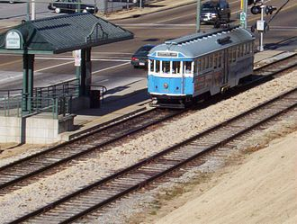 Transportation in Memphis, Tennessee - Memphis trolley on the Riverfront loop (2006)