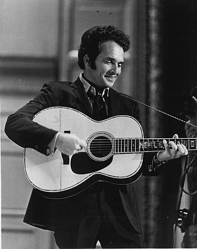 Merle Haggard, American country music song writer, singer and musician