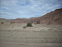 Desert scenery of the central Patagonian plateaus in Chubut Province