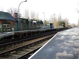 Metheringham railway station - Image: Metheringham Railway Station