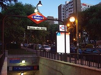 Barrio del Pilar (Madrid Metro) - Image: Metro de Madrid Barrio del Pilar 02