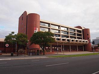 Wakefield Street, Adelaide - The Metropolitan Fire Station was built in 1983