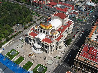 Palacio de Bellas Artes - The Palacio de Bellas Artes viewed from the Torre Latinoamericana.