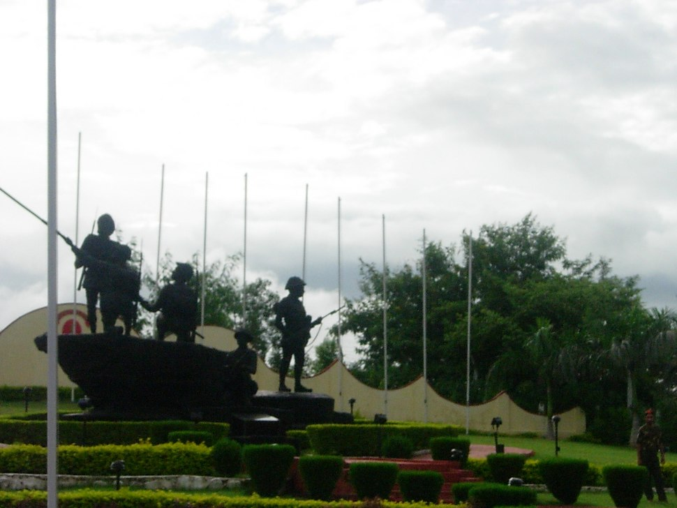 The Infantry Memorial in Mhow Cantt.