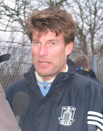 Michael Laudrup, named the best Danish football player of all time by the Danish Football Association Michael Laudrup, 2005.jpg