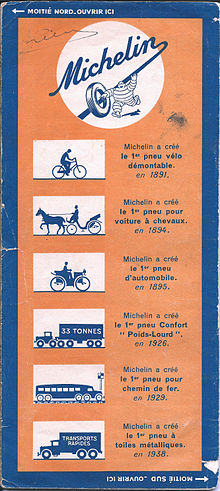 La longue vie de Michelin dans FONDATEURS - PATRIMOINE 220px-Michelin_map_backside_of_1940