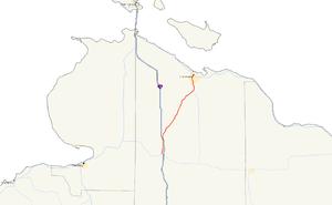 M-27 (Michigan highway) - Image: Michigan 27 map