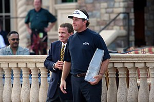 Phil Mickelson - Mickelson with commissioner Tim Finchem after winning the 2007 Players Championship