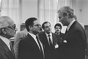 Bassam Abu Sharif - Bassam Abu Sharif (centre, with glasses), 1989)