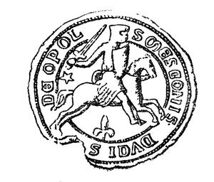 Mieszko II the Fat - Mieszko II the Fat's seal, dated to 1245.