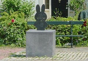 Miffy statue at her own square, Nijntje Pleint...