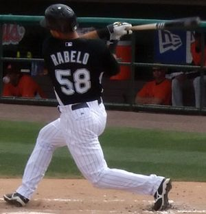 Mike Rabelo - Rabelo with the Florida Marlins