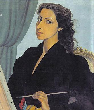 Milena Pavlović-Barili - Image: Milena Pavlović Barili Selfportrait
