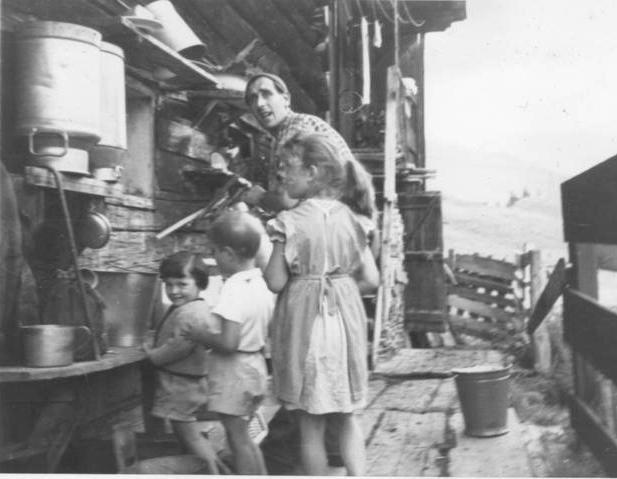 Milk supply 1959 in Oberlech, Austria