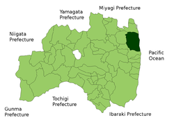 Location of Minamisōma in Fukushima