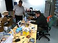 Mindstorms EV3 - Urpobot-brainstorming Sunday, Kremmen & Rambo, Helsinki Hacklab (2015-02-01 by Hannu Makarainen).jpg