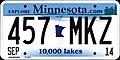 Minnesota 2014 License Plate.jpg