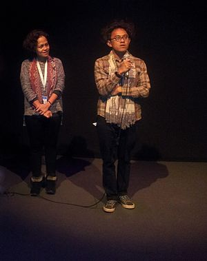 Mira Lesmana - Mira Lesmana (left) with fellow director and producer Riri Riza in 2013
